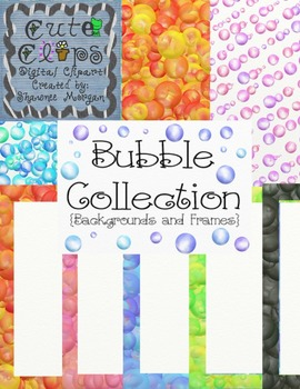 Bubble Backgrounds and Frames Collection [Cute Clips Digital Clip Art]