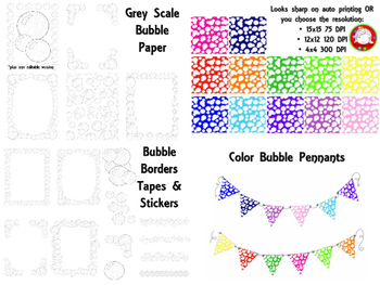 Bubble Digital Paper Pack *41 clips* (Personal & Commercial Use)