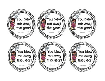 Bubble End of Year Gift Tags