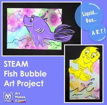 STEAM Art Lesson Seuss Inspired Bubble Fish Art Lesson Powerpoint
