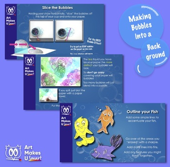 STEAM Art Lesson Seuss Inspired Bubble Fish Art Lesson Powerpoint