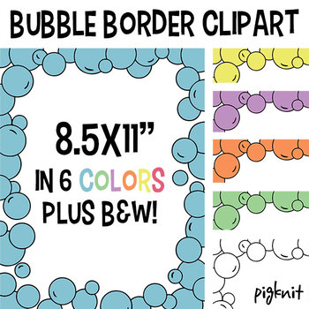 Bubble Frame Border Clipart