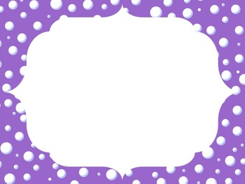 bubble frames shades of purple blue green yellow orange red