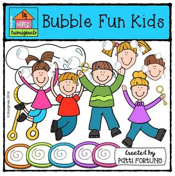 Bubble Fun Kids {P4 Clips Trioriginals Digital Clip Art}