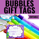 End of the Year Gift Tag for Bubbles | Editable | English