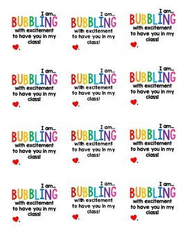 Bubble Gift Tags