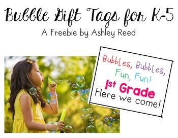 Bubble Gift Tags (K-5th)