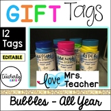 Bubbles Gift Tags -- Whole Year Set *EDITABLE*