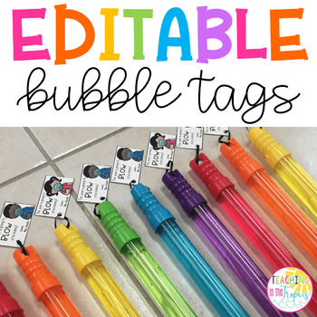 Bubble Gift Tags for Back to School