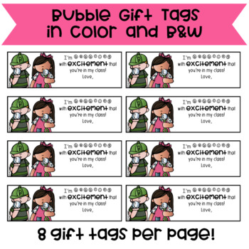 Bubble Gift Tags to Welcome Students to a New Year (FREE & EDITABLE)