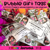 Bubble Gift Tags to Welcome Students to a New Year (FREE &