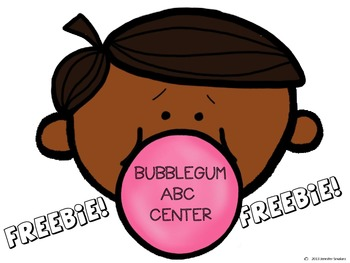 Bubble Gum ABC match Freebie
