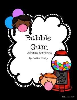 Bubble Gum Addition Activities