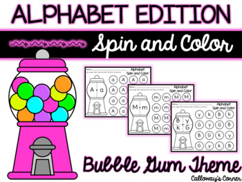 Bubble Gum Alphabet Spin and Color
