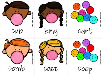 Bubble Gum Articulation Game for K and G