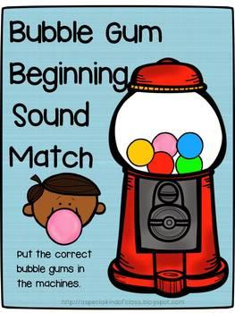 Bubble Gum Beginning Sound Match
