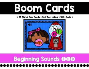 Bubble Gum Beginning Sounds {F, H, O}