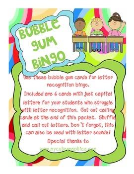 Bubble Gum Bingo Fun