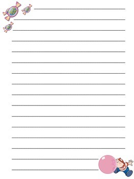 Bubble Gum Blank Writing Paper