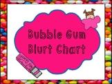 Bubble Gum Blurt Chart