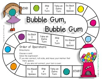 Bubble Gum, Bubble Gum - Order of Operations