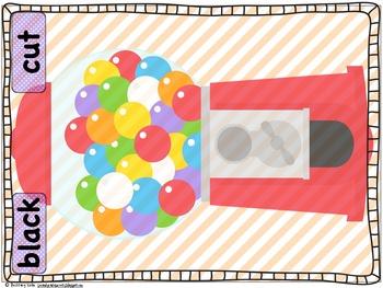 Bubble Gum, Bubble Gum Short e & Short i Word Work-Guide Words