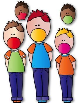 Bubble Gum Buddies KIDS Clip Art ~ Doodles ~ Hand Drawn
