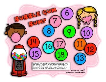 Bubble Gum Bump Addition Games!