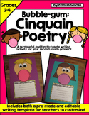 Bubble-Gum Cinquain Poetry! A craftivity for second through fourth graders