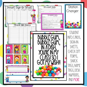 Bubble Gum Classroom Decor Editable