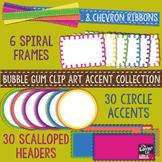 Bubble Gum Clip Art Accent Collection: 70+ Pieces