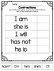 Contractions!  Puzzles, Matching Cards, Printables, Interactive Notebook Pages