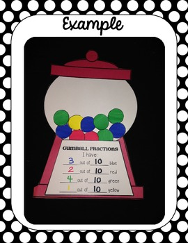 Bubble Gum Fraction Craftivity