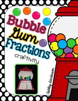 Bubble Gum Fraction Craftivity
