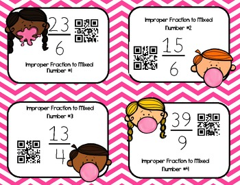 Bubble Gum Fraction Fun-Sorting, Bump Games, QR Codes