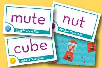 Bubble Gum Fun Short u / CVCe u Phonics Game