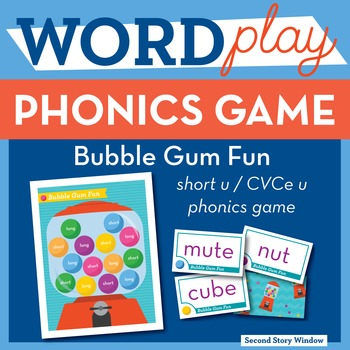 Bubble Gum Fun Short u / CVCe u Phonics Game - Words Their Way Game