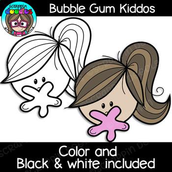 Bubble Gum Kiddos Clipart {Scrappin Doodles Clipart}