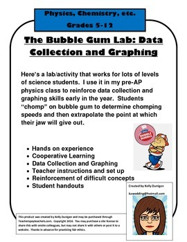 Bubble Gum Lab - data collection and graphing