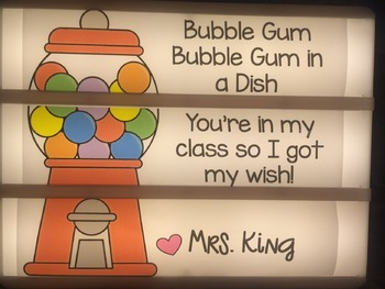 Light Box Slide- Bubble Gum Theme