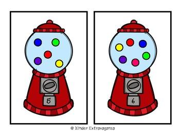 Bubble Gum Machine Counting Mats