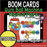 Bubble Gum Machine Minimal Pairs - STOPPING - BOOM Cards D