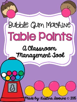 Bubble Gum Machine Table Points- A Positive Classroom Management Tool