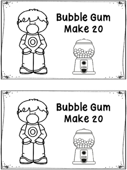 Bubble Gum Make 20 - A Ten Frame Booklet