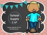 Vocational School Supply List