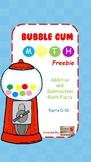 Bubble Gum Math Fluency:  Math Facts 0-10