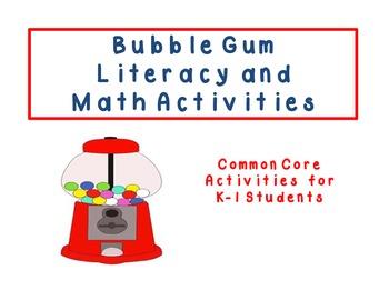 Bubble Gum Math & Literacy Unit