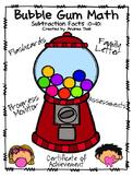 Bubble Gum Math: Subtraction Facts (0-10)