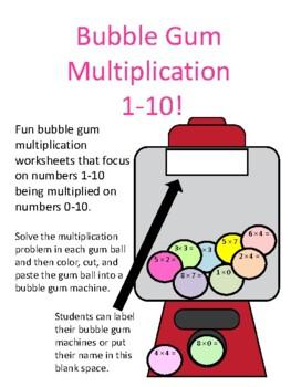 Bubble Gum Multiplication 1-10!