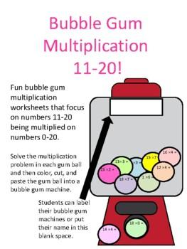 Bubble Gum Multiplication 11-20!